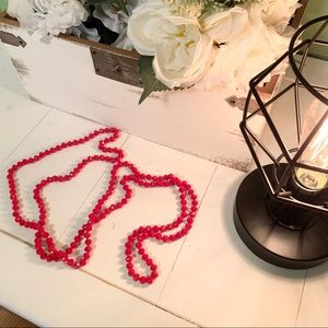 🔴3/$15 Altar'd State Long Red Bead Necklace